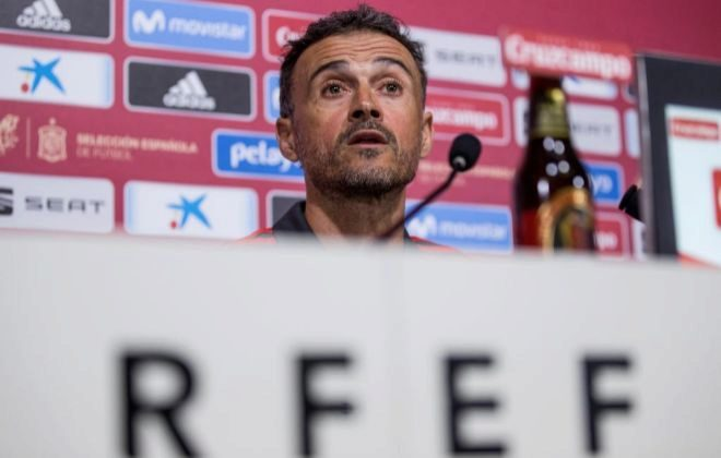 Luis Enrique, durante su rueda de prensa del jueves en la Ciudad del Fútbol.