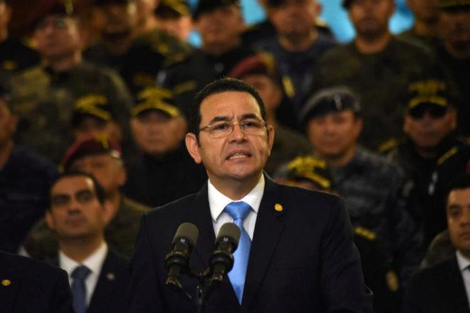 Jimmy Morales, presidente de Guatemala, en una imagen reciente.