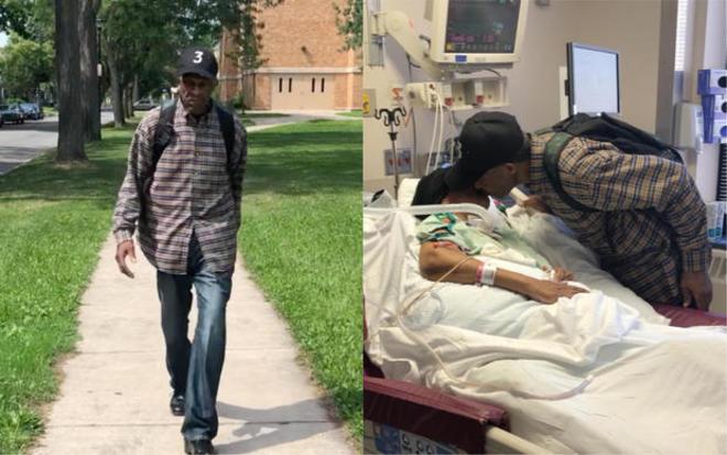Luther camina 10 kilómetros cada día para ver a su esposa...