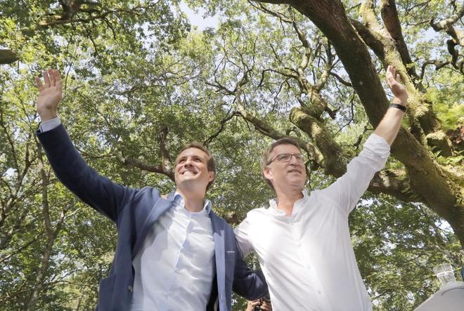 Pablo Casado reivindica el legado de Mariano Rajoy y se apoya en Núñez Feijóo para revitalizar el PP