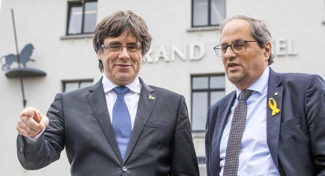 Carles Puigdemont y Quim Torra, el pasado lunes, en Bruselas.
