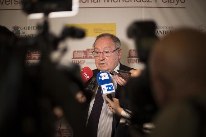 El presidente de Freixenet y de la Cámara de España, José Luis Bonet, este verano en Santander.