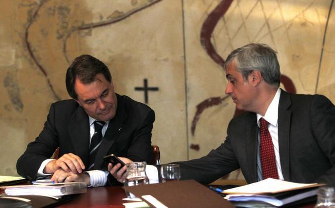 A la izquierda, Artur Mas, a la derecha, Germá Gordó.