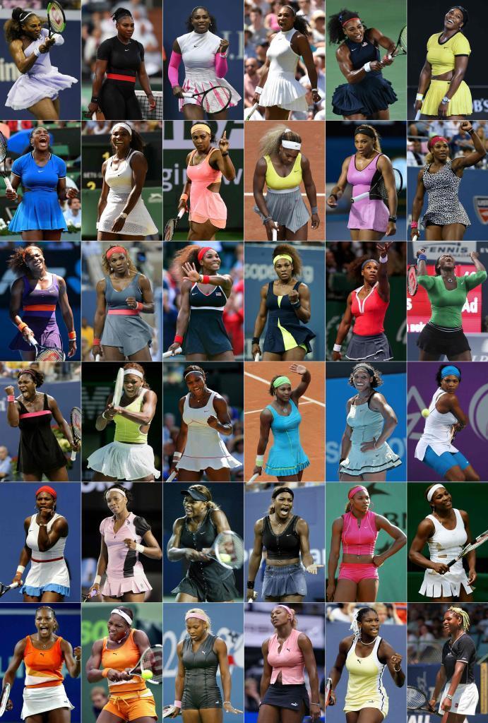 Los mil y un modelos rompedores de Serena Williams