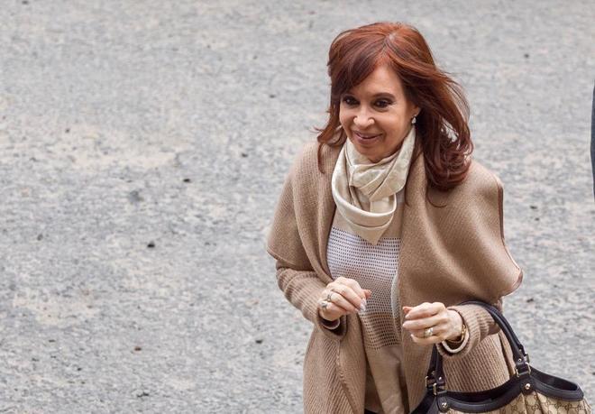 La ex presidenta argentina Cristina Fernandez de Kirchner, en Buenos Aires.