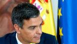 El presidente del Gobierno, Pedro Sánchez, ayer en el Palacio de la...