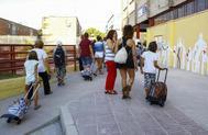 Vuelta al colegio en Madrid.