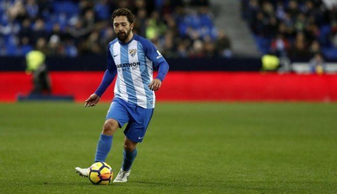 Iturra, en un partido con el Málaga.