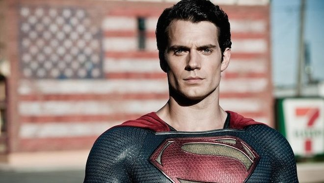 El actor Henry Cavill, como Superman.