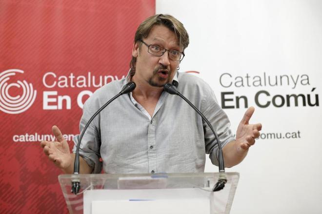 Xavier Doménech, el pasado 3 de julio en rueda de prensa en Barcelona.
