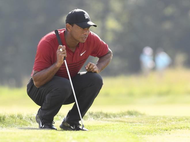 Tiger Woods, durante el Dell Technologies Championship.