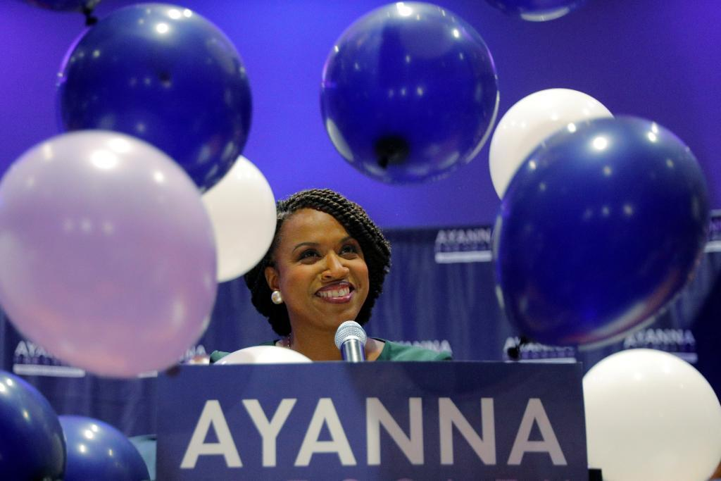 La candidata demócrata por Massachusetts, Ayanna Pressley.