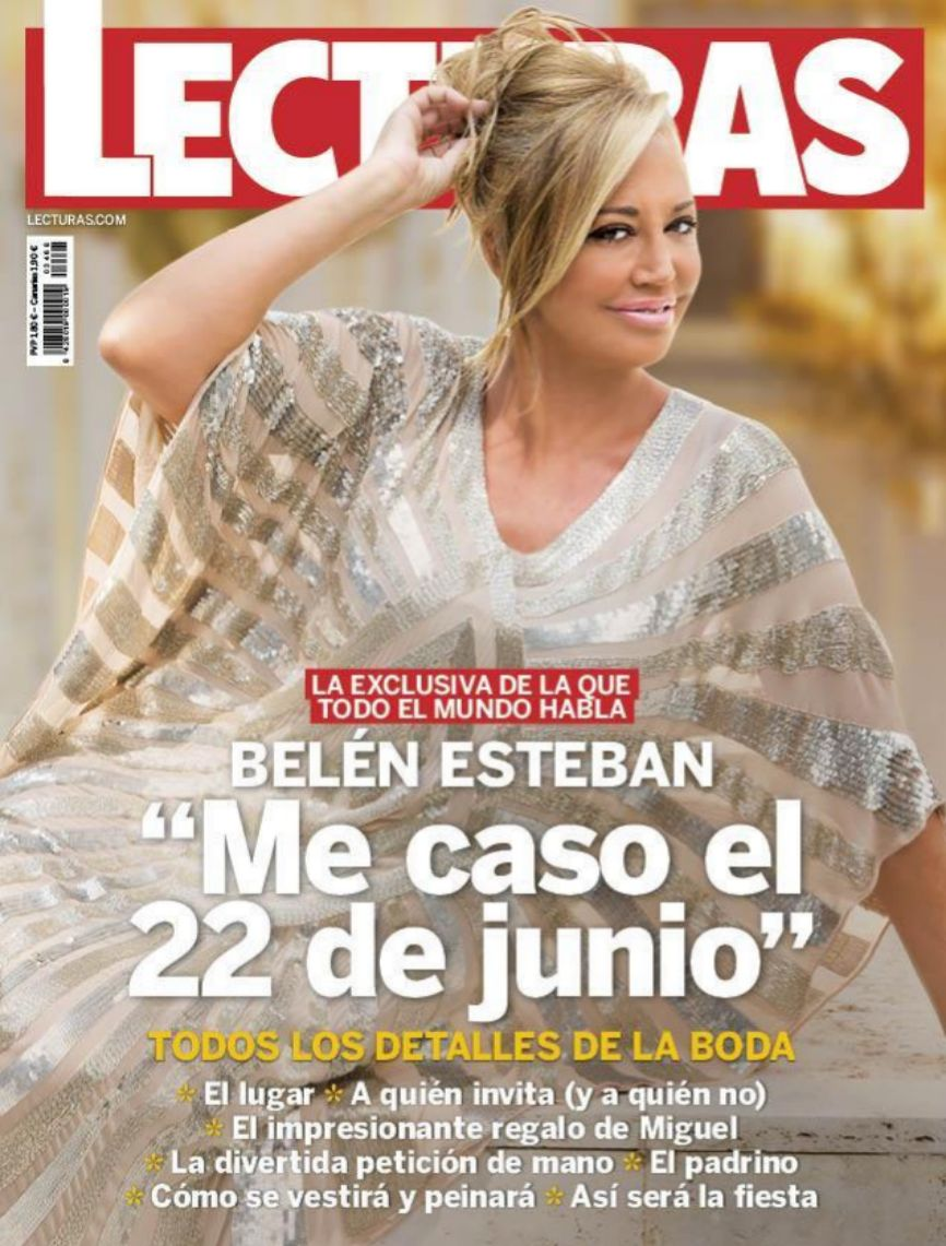 Belén Esteban ha anunciado que se casa en la portada de la revista...