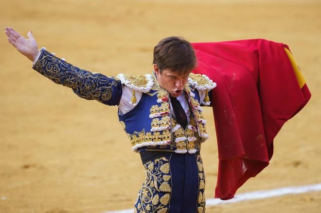 El Juli durante una corrida en la feria de Palencia el pasado jueves.