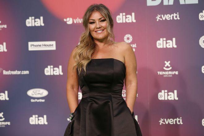 Amaia Montera en la gala de los premios Cadena Dial en Tenerife.