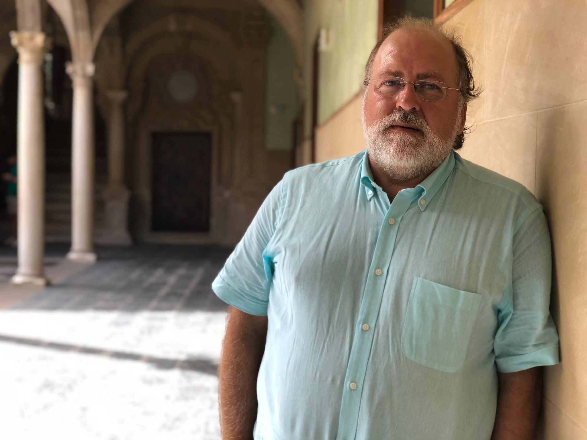 Ignacio Benítez en la sede Antonio Machado de Baeza.