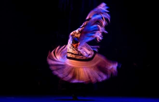 La bailaora Eva Yerbabuena en el estreno de espectáculo Apariencias en el Teatro Villamarta.