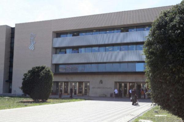 El Palacio de la Justicia de Castellón.