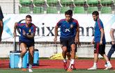 Los jugadores de la selección española durante un entrenamiento