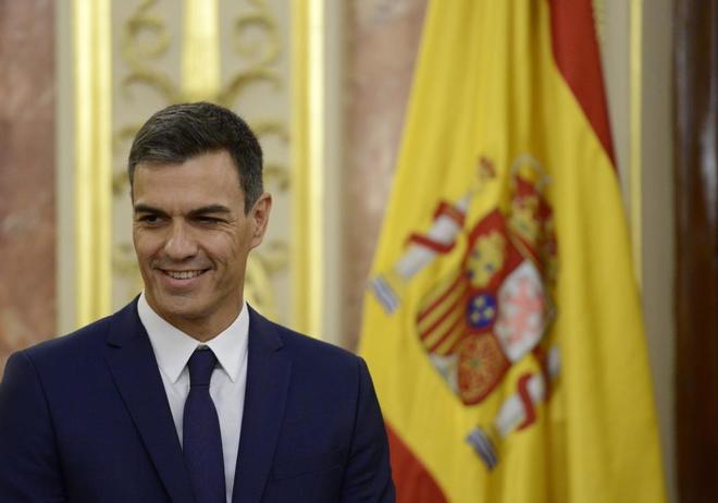 El presidente del Gobierno, Pedro Sánchez, este jueves en el...