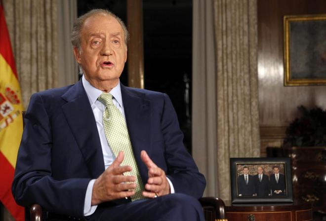 El Rey Emérito, Juan Carlos I, en el mensaje navideño de 2011.