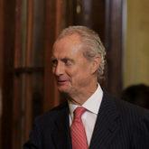 Pedro Morenés, hasta ahora embajador de España en EEUU, durante un...