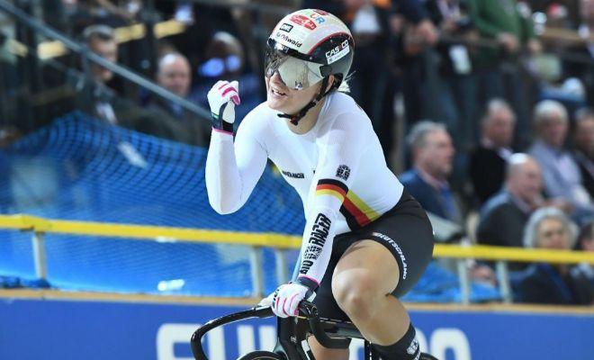 Vogel festeja su oro en sprint, durante el Mundial de Apeldoorn del pasado mayo.