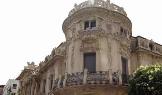 Edificio modernista sede de la SGAE (Sociedad General de Autores y Editores) en la Calle Fernando VI de Madrid.