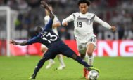 Sane, el jueves, ante Kante en el Allianz Arena.