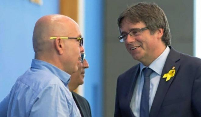 Gonzalo Boye y Carles Puigdemont, este verano en Berlín.