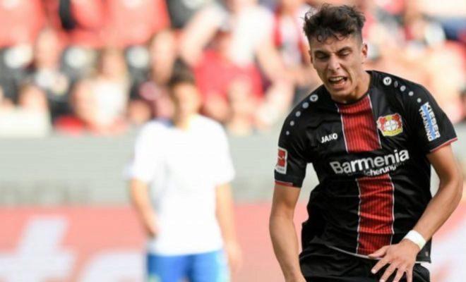 Havertz, la pasada semana, durante un partido de Bundesliga ante el Wolfsburgo.