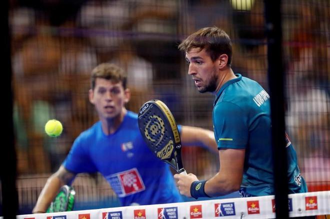 Ramiro Moyano y Lucho Capra, durante la semifinal del Open de Lugo