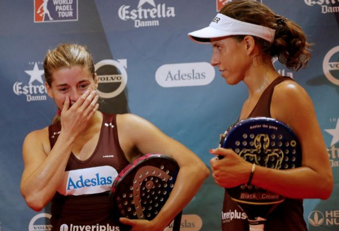 Salazar y Marrero, emocionadas tras ganar el Abierto de Lugo.