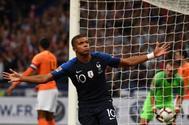 Mbappé celebra el gol marcado ante Holanda.