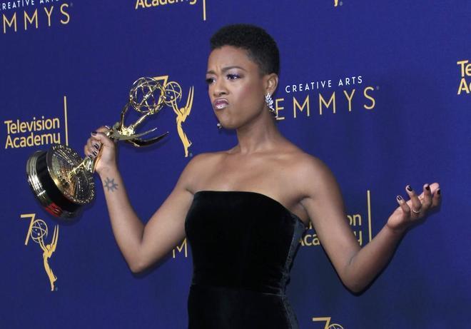 Samira Wiley, mejor actriz invitada de drama por 'El cuento de la criada'.