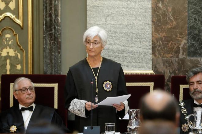 María José Segarra, fiscal general del Estado, en la apertura del Año Judicial.