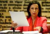 Margarita Robles, durante su comparecencia en la Comisión de Defensa...