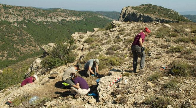 Una de las extracciones realizadas por ArquoAntro en la sierra de El Toro.