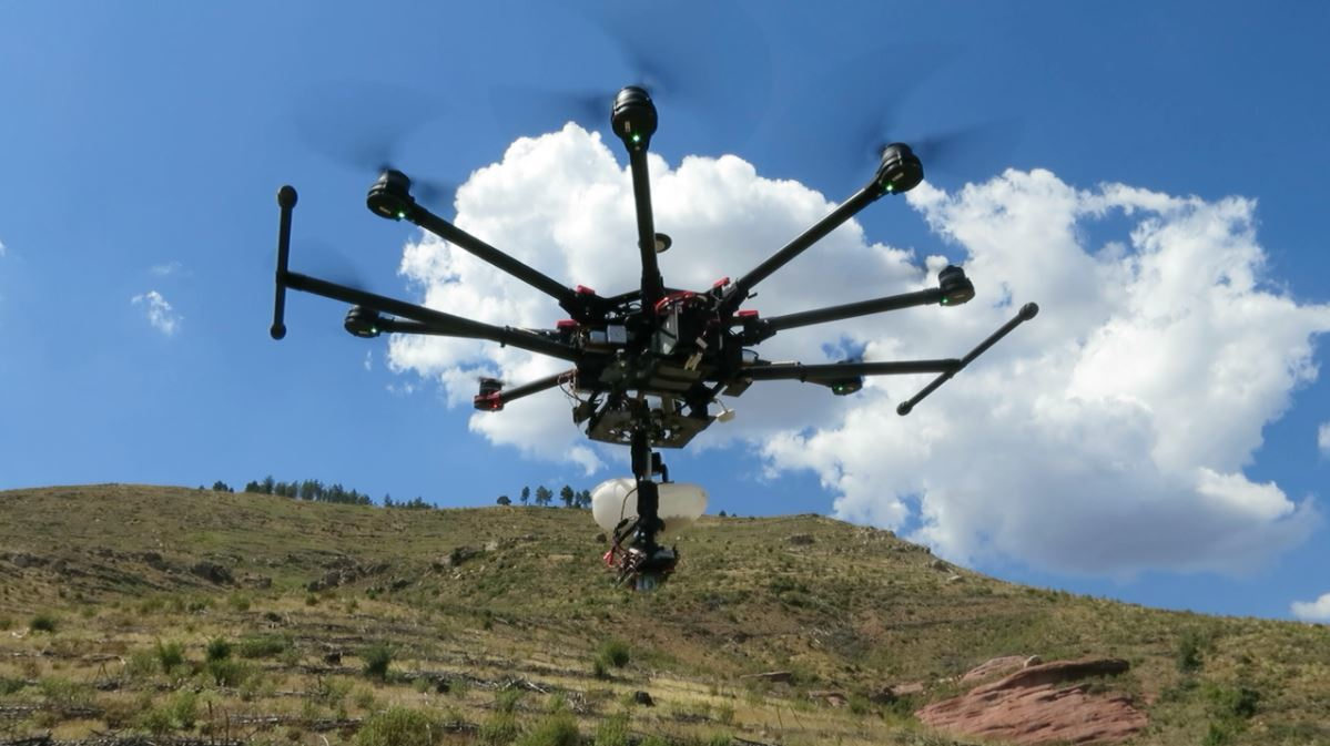 The drone that is capable of reforesting 100 00 trees in