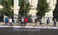 Policías municipales protestas simulando ser 'manteros'