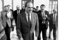 Manuel Chaves, el día que compareció ante la comisión de investigación del Parlamento.