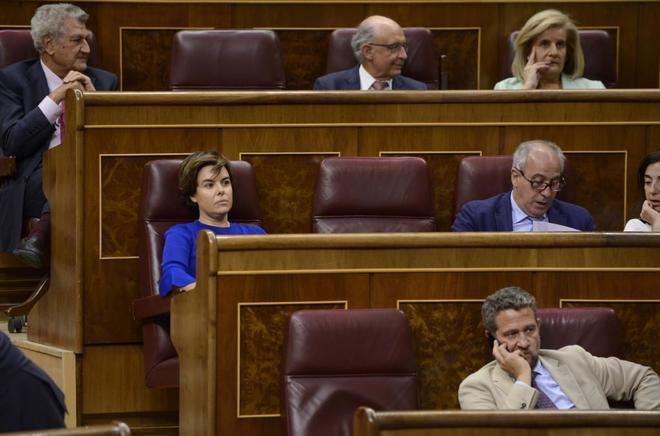 Soraya Sáenz de Santamaría en el Congreso de los Diputados.