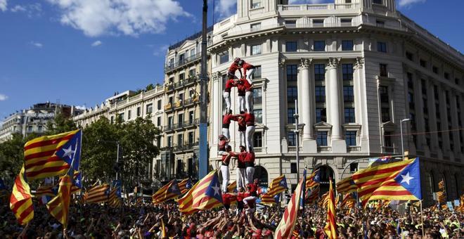 Imagen de la Diada en Barcelona el pasado año