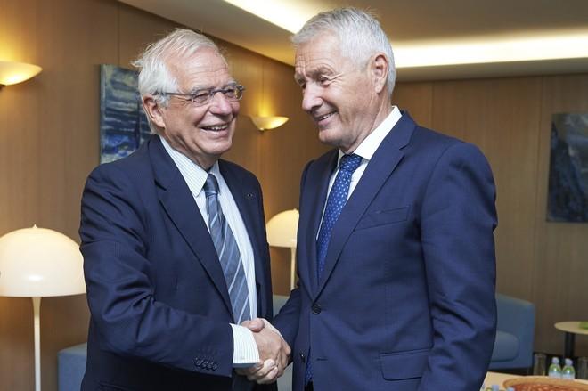 El secretario general del Consejo de Europa, Thorbjørn Jagland,...