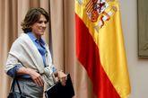 La ministra de Justicia, Dolores Delgado, durante su comparecencia hoy...