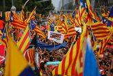 Ambiente durante la jornada de la Diada de Cataluña, en Barcelona.