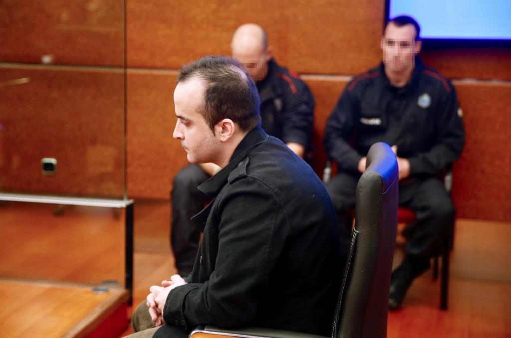 Daniel Montaño en una de las sesiones del juicio.