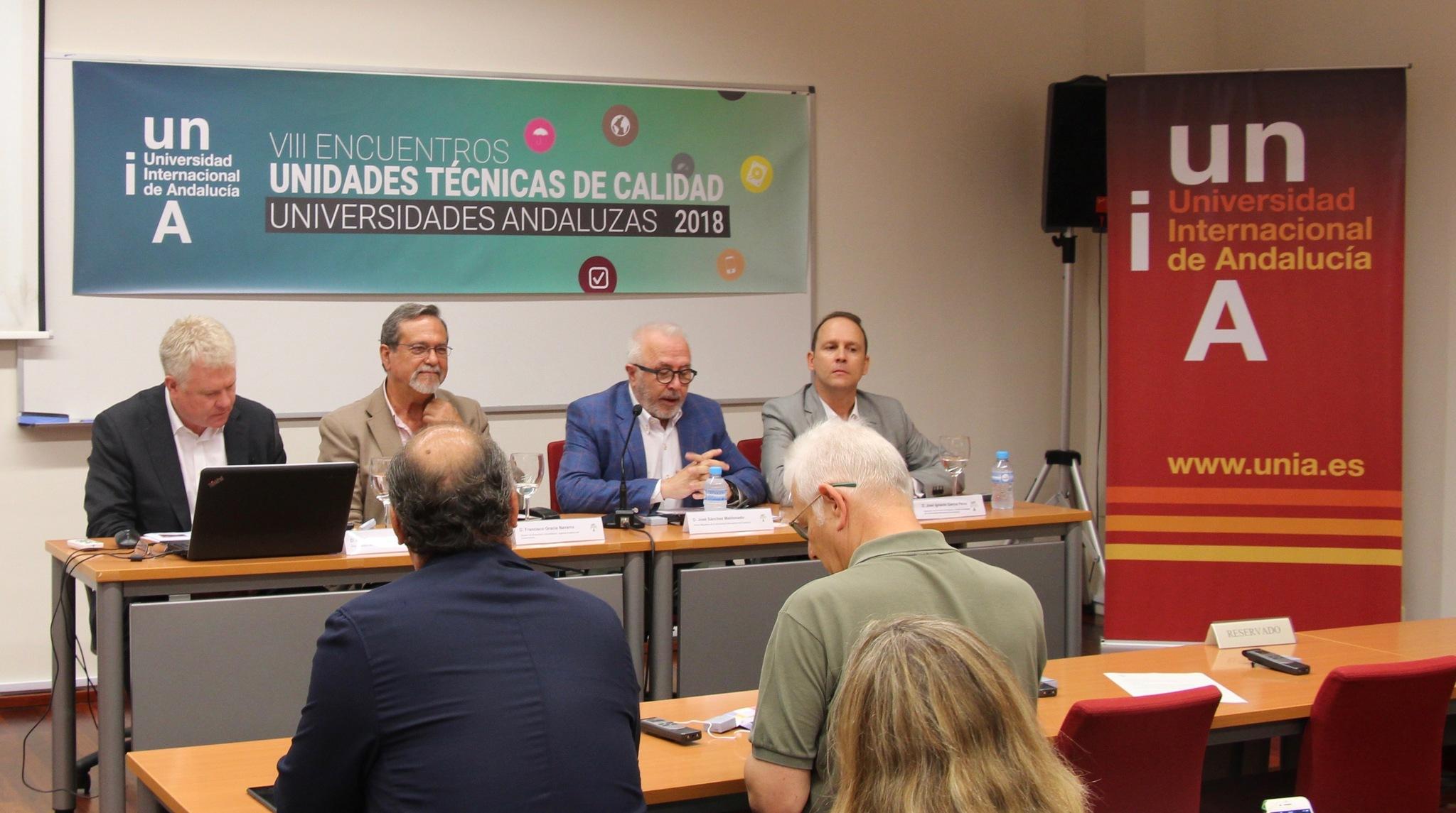 El rector de la UNIA José Sánchez Maldonado en la inauguración de las jornadas.
