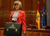 La nueva ministra de Sanidad, María Luisa Carcedo, durante su toma de...