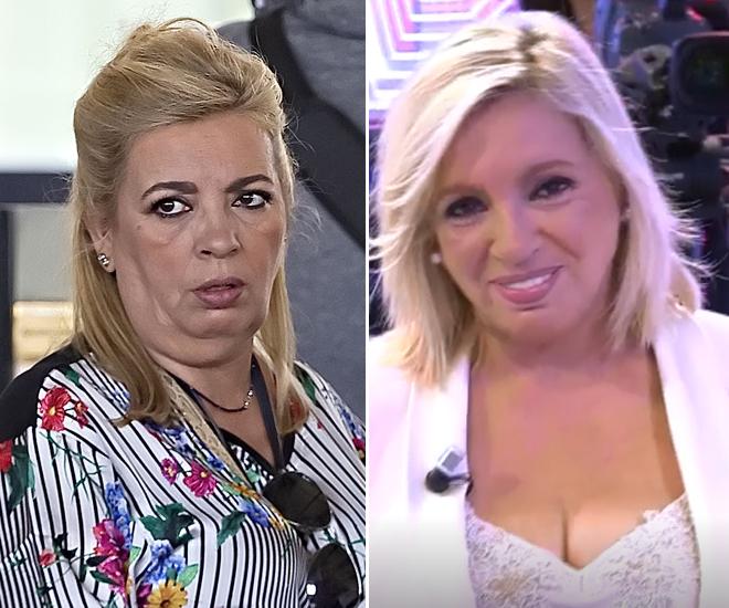 A la izquierda, Carmen Borrego antes de la operación. A la derecha, después de la operación.